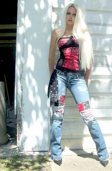 Bandana Patched jeans. Custom.