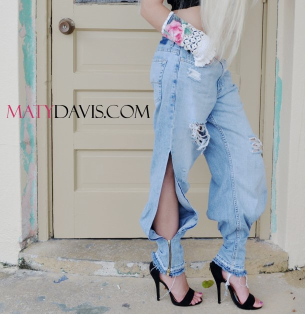 Boyfriend jeans, harem style. Size 3/4. Ready to ship.