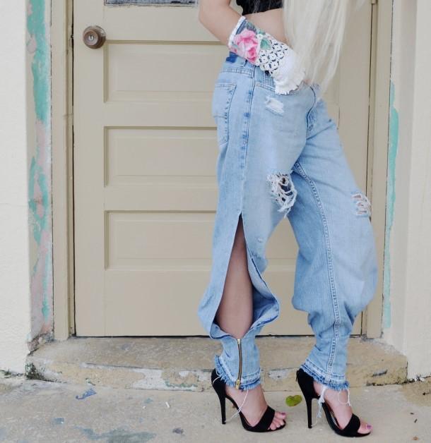 Boyfriend jeans, harem style. Custom.