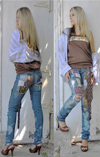 Him skinny jeans. Custom
