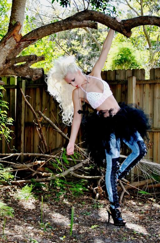 Prima Ballerina jeans in Black. Custom blue jeans Corsets