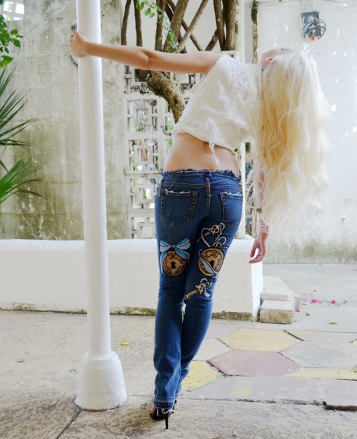 Alice (in Wonderland) jeans. Ready to ship.