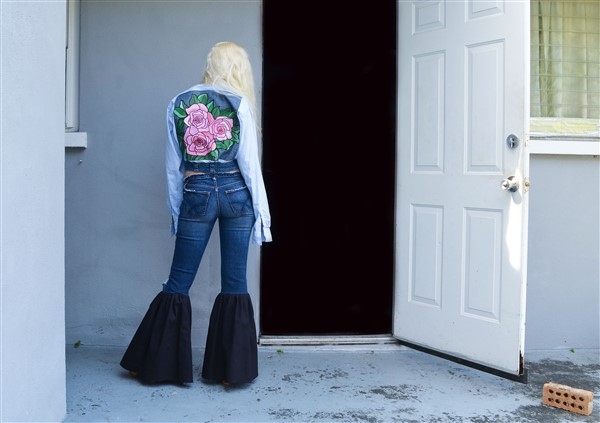 Black Bell Bottom jeans. Custom.