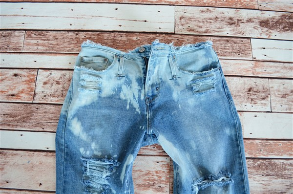 Bleached and destroyed flares. Size 10.