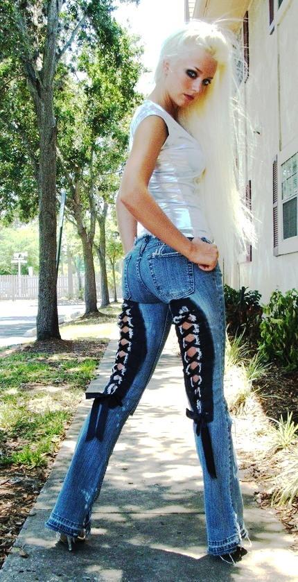 Corset jeans. Custom